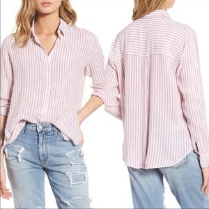 Rails Sydney long sleeve button down button back M